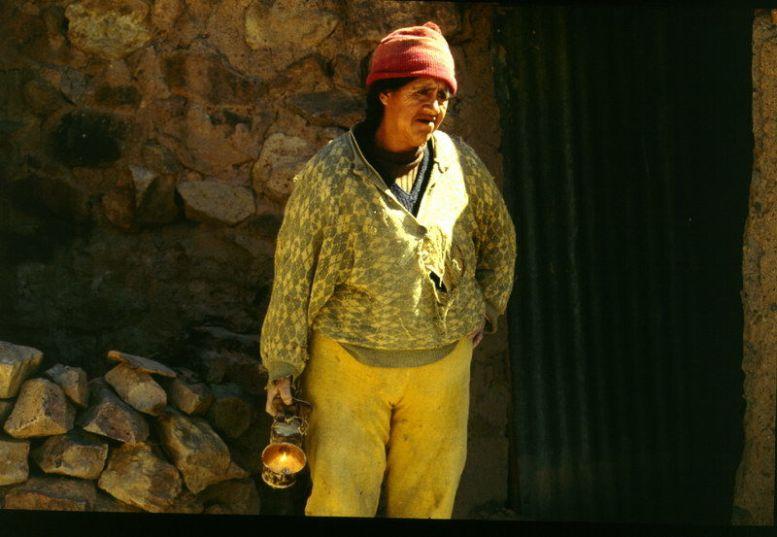 Bolivianische Minerva (Bergwerksarbeiterin)