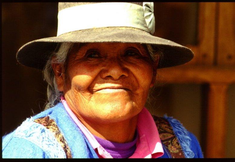 Bolivianische Indiofrau