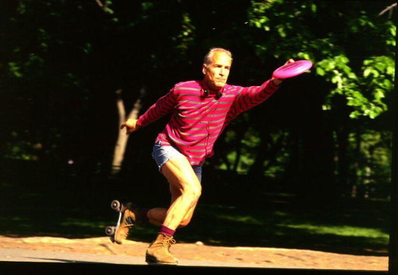 Frisbee-Spieler im Central Park in New York
