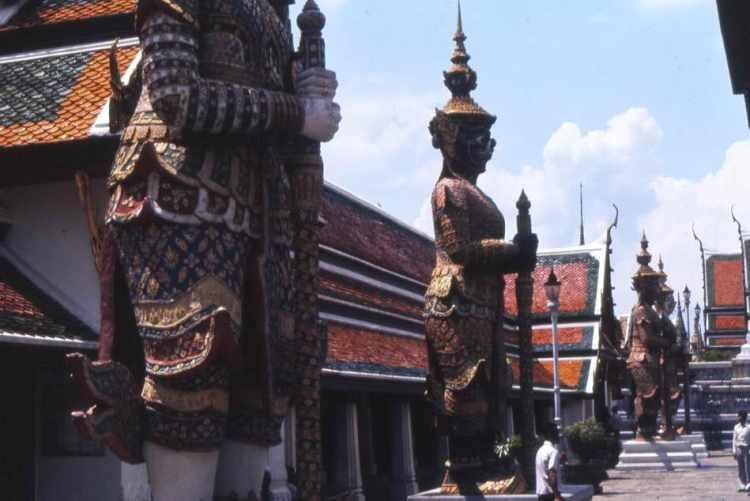 Tempelwächter im Wat Phra Keo