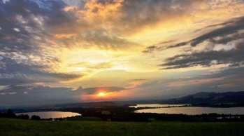 Blick über die 3 Trumer Seen