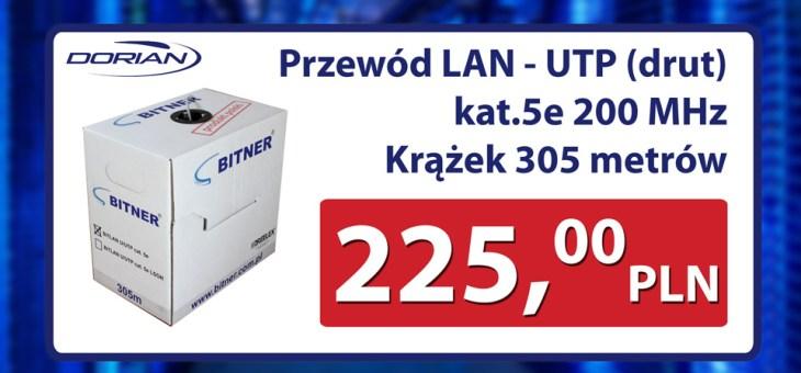 Przewód LAN – UTP polskiej firmy BITNER