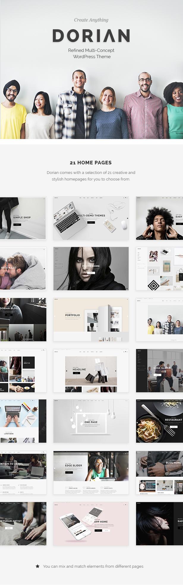 Dorian - Refined Multi-Concept WordPress Theme - 1
