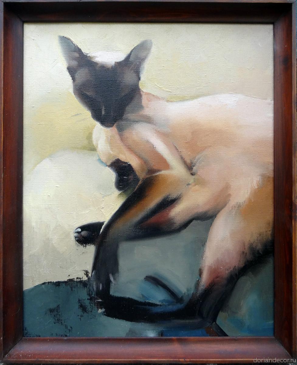 "Ирина Агалакова - картина ""Тайская кошка"", 2014 г."