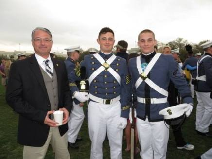 After the rifle exchange I was able to get this photo of Cadet Daniel Smith and Cadet Jason Wells. The rifle Jason is holding was once carried by my son. Daniel's father is also in the photo.