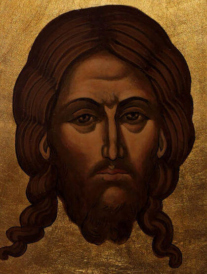 Jesus Christ - Byzantine icons on linden wood - only on request. Mural painting in the church, religious art, icons and Byzantine iconostasis