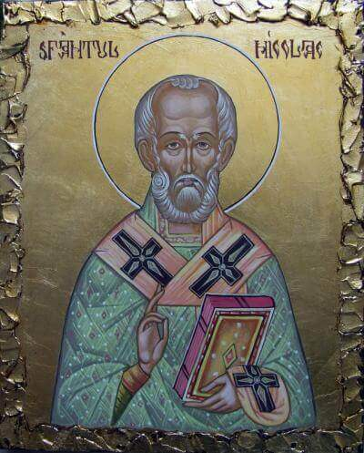 Saint Nicholas - Byzantine icons on linden wood - only on request. Mural painting in the church, religious art, icons and Byzantine iconostasis