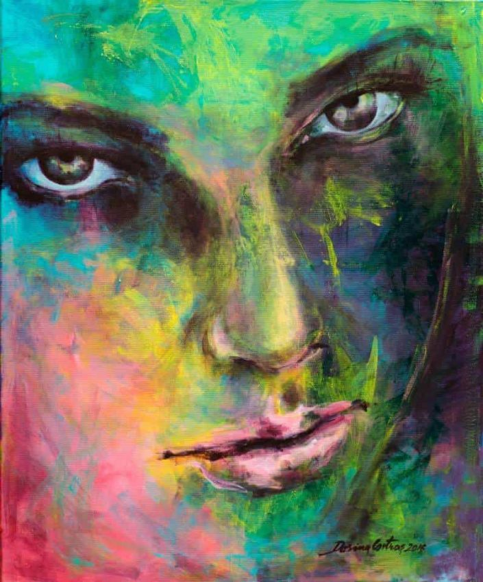 Painting Introspection. Painting on canvas, size 50/70 cm. Price 650 E