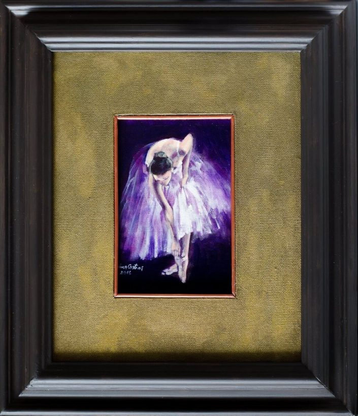 Ballerina - Painting on canvas, original artwork, size 25/34 cm, Price 180 E