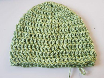 13 שורות כובע סרוג לתינוק