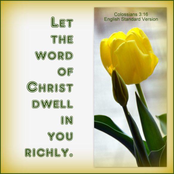 Colossians 3-16 ESV