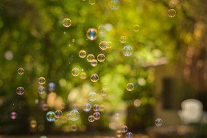 Leben verändern leicht wie Seifenblasen