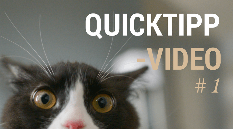 QuickTipp Video 1