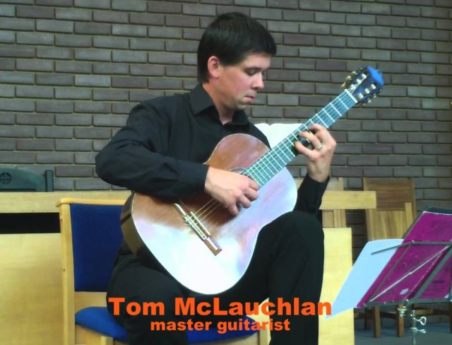 Tom McLauchlan is master guitarist who can be found performing classical recitals at sea.