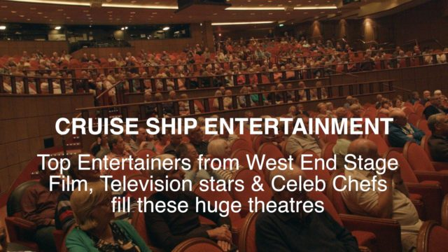 Great Entertainment is on a cruise ship