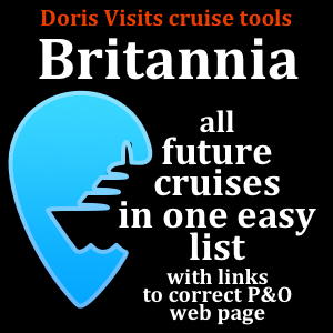 P&O Britannia – the list of all future cruises to choose from