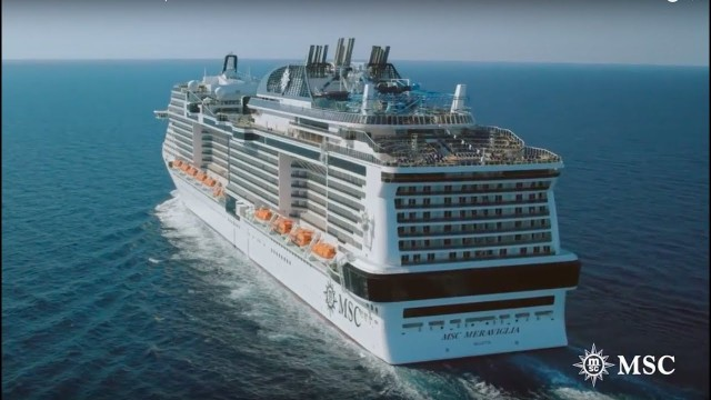 MSC MERAVIGLIA – 5,386 guests this large family ship loves the Med.