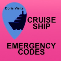 Emergency codes used on a cruise ship