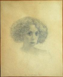 "Jan Rauchwerger, ""Portrait of Galit"", 1986, Pencil on Paper, 52.5X43.5 cm"
