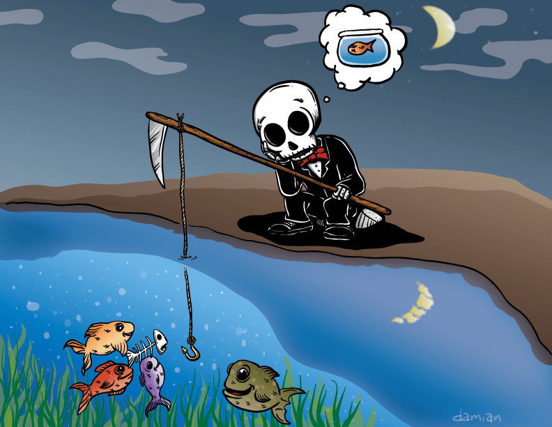 Skully – Fishing for a loved one