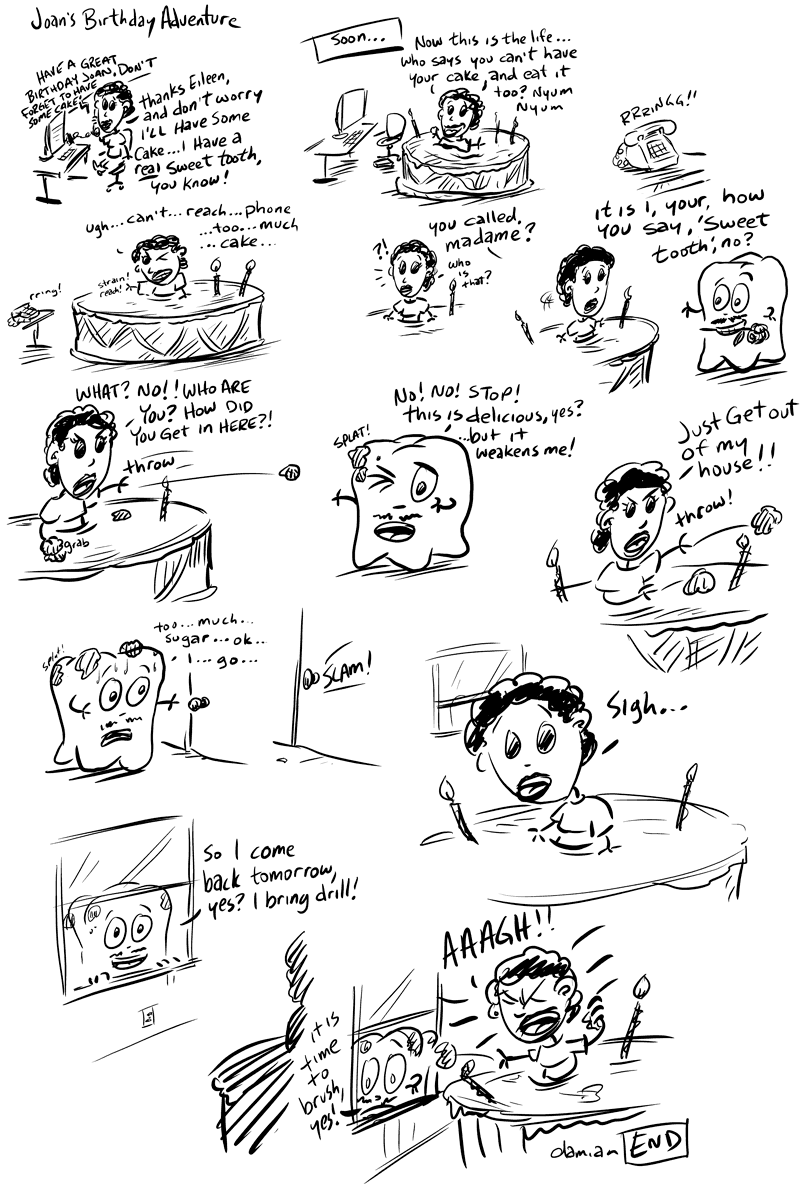 Sketchbook – Tooth adventures #3