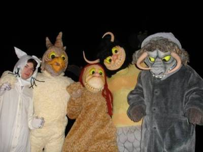 Hipsters dressed as The Wild Things
