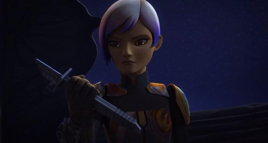 Sabine ponders the Darksaber