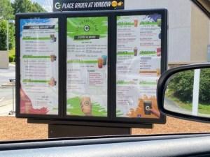 Clutch Coffee menu board