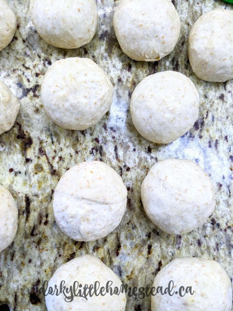 Dough balls for samosas