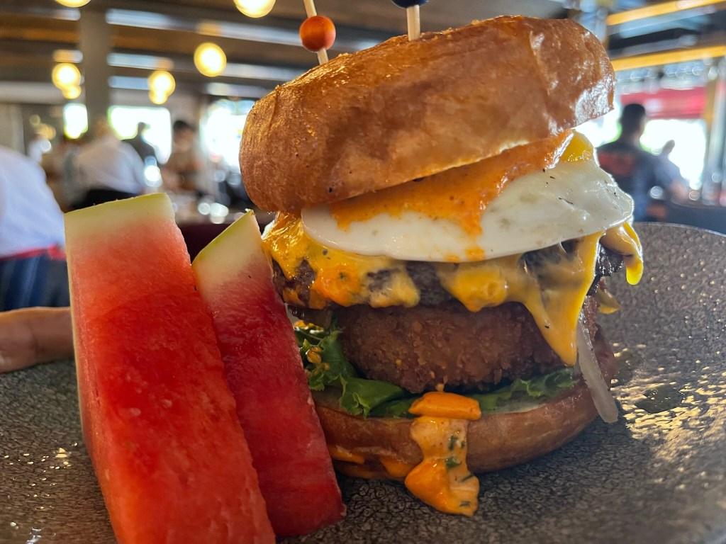brunch burger at lamplight lounge