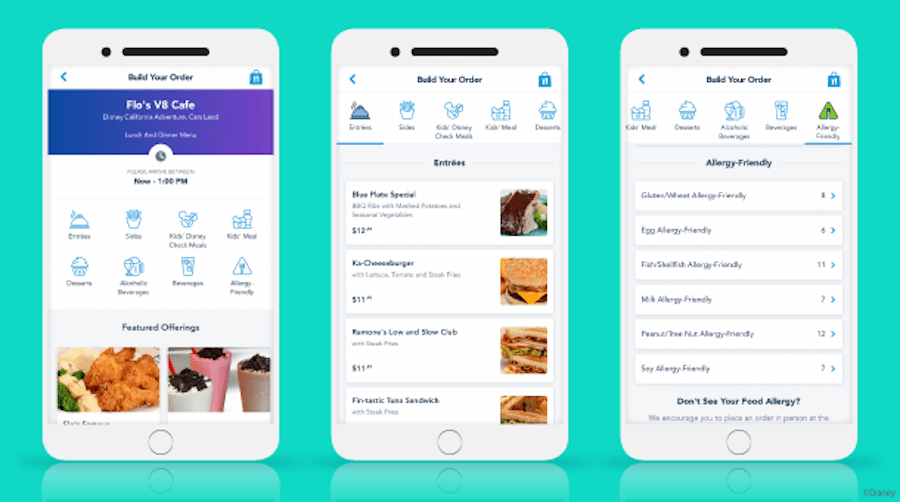 how to mobile order using the disneyland mobile app