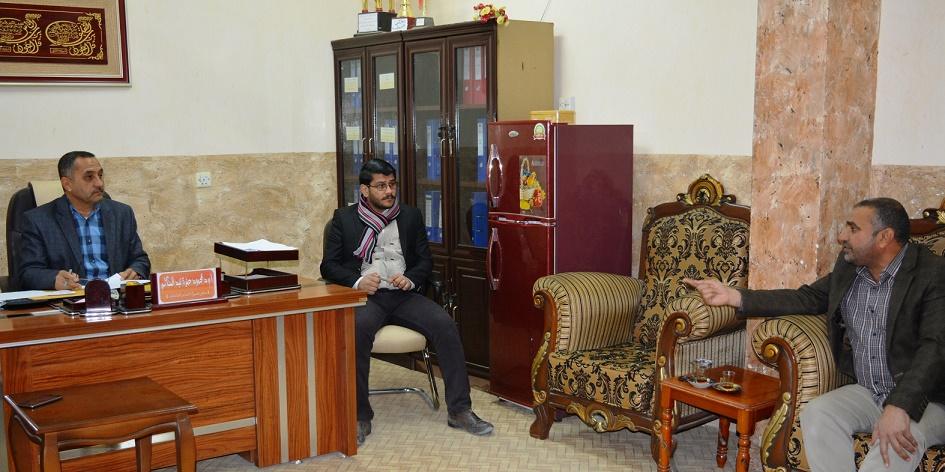 ضمن سلسلة من الاجتماعات الشهرية ..مدير قسم الأقسام الداخلية يلتقي بمسؤولي الشعب والوحدات