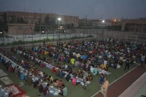 رئاسة جامعة كربلاء تقيم مأدبة إفطار لطلبة الأقسام الداخلية