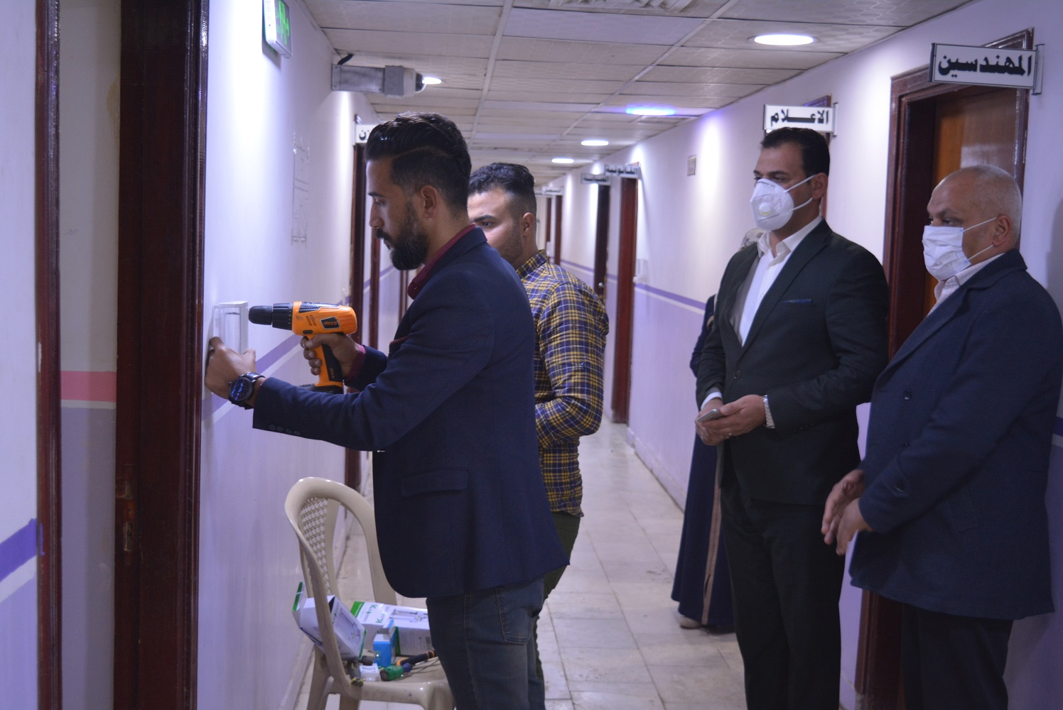 استمرار حملات التوعية الصحية والتعفيرية في قسم شؤون الاقسام الداخلية