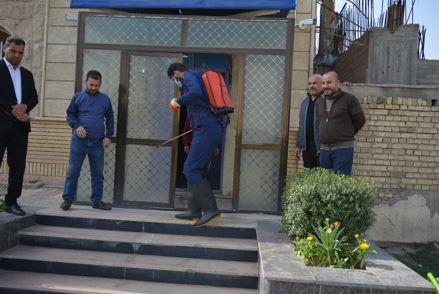 حملات تعفير المجمعات السكنية للاقسام الداخليه في جامعة كربلاء