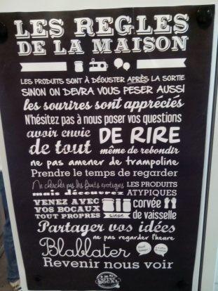 le réglement intérieur Effet bocal Poitiers