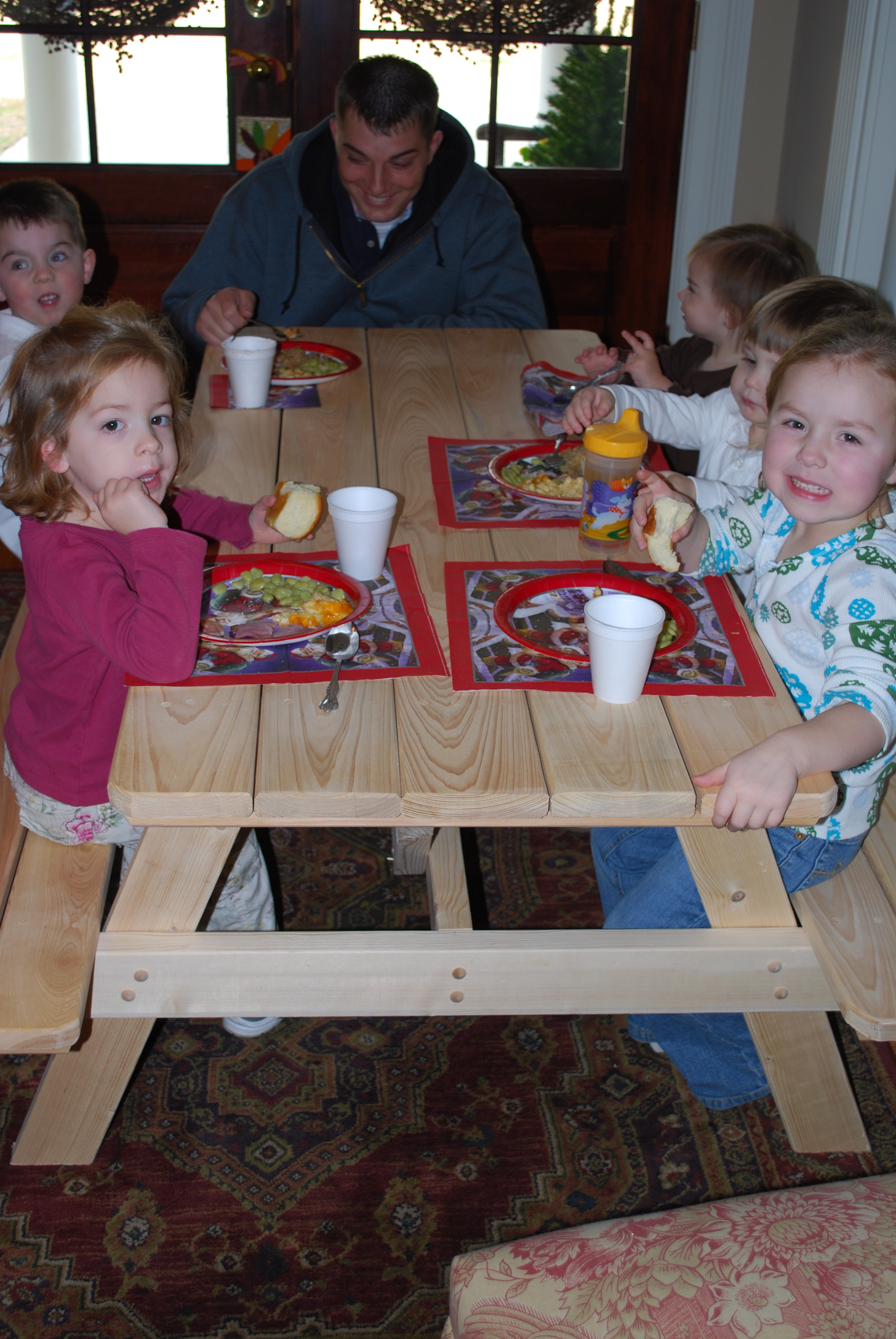 """All the grandkids at """"the kid table"""""""