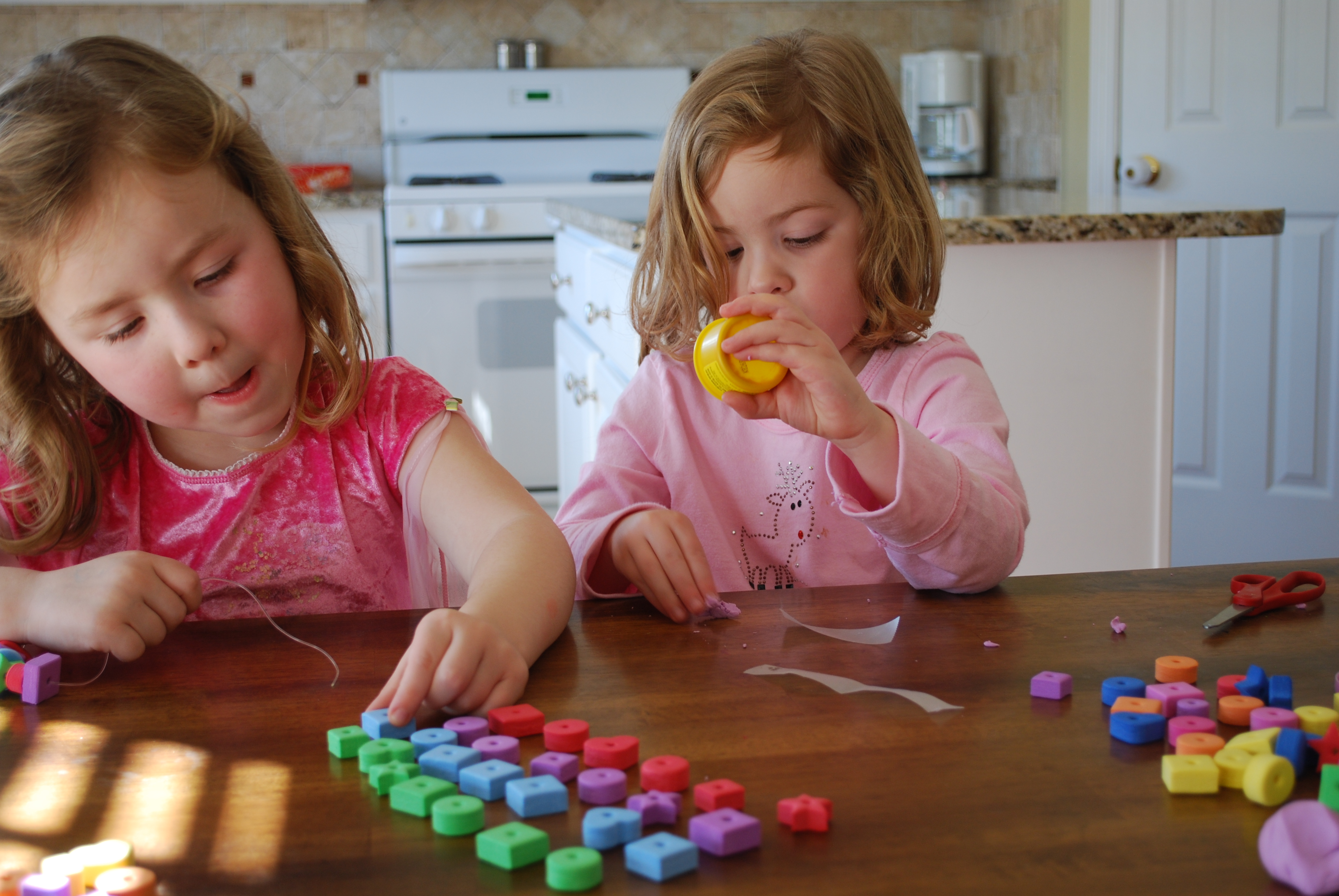learning patterns, shapes and using fine motor skills