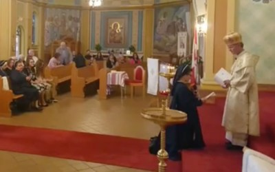 VIDEO: Sister Emily Schietzsch's Final Vows and Divine Liturgy.
