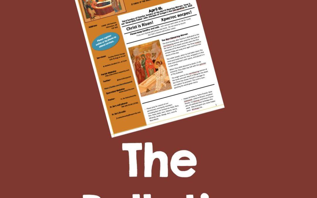 Bulletin May 9