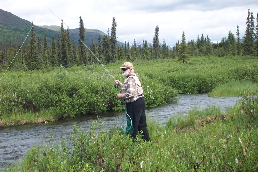 Norm Carlson fly fishing