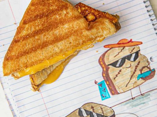 microwave crispy grilled cheese sandwich