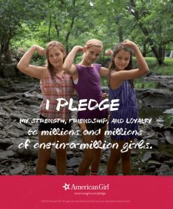 american girl pledge