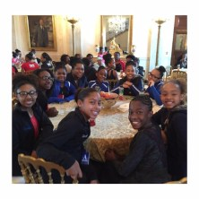 First Lady Michelle Obama hosts 51 girls to celebrate African American women and dance