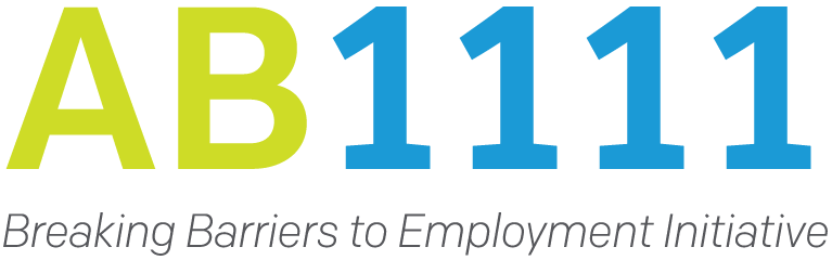 AB1111: Breaking Barriers to Employment Initiative