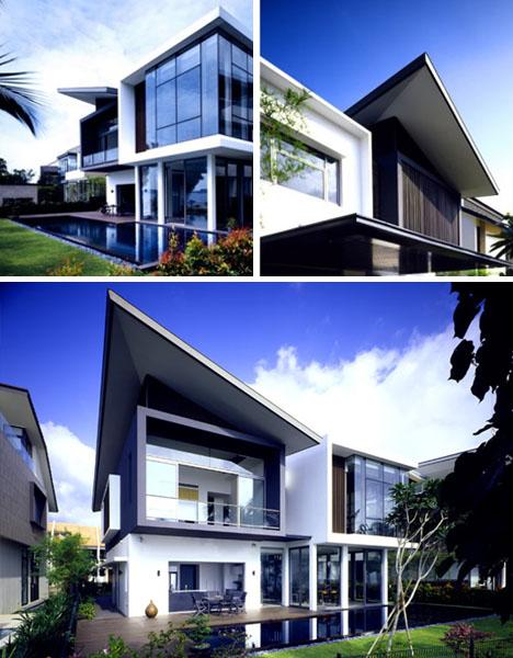 Ultramodern House Works Despite Small Lot Size Designs
