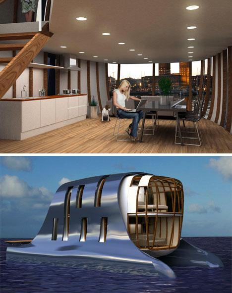 New Urbanism Pontooned Or Luxury Houseboat Community