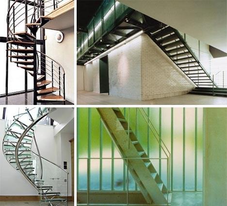 Open House 10 Modern Spiral Staircase Design Pictures Designs | Exterior Metal Spiral Staircase | Rustic Metal | Deck | Crystal Handrail | Bar Modern | Railing