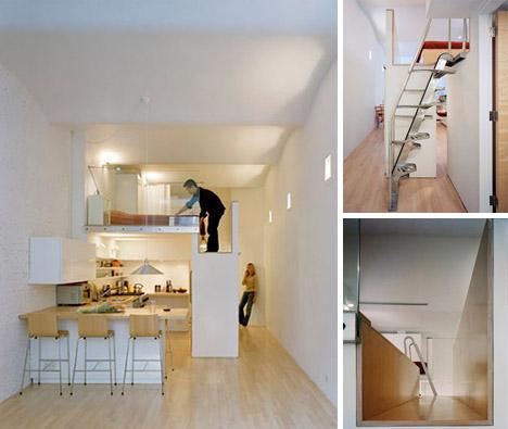 Loft Bed Turns Single Floor Studio To