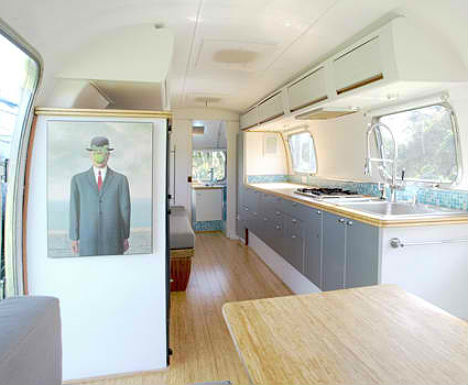 Vintage Airstream Converted Into HomeOffice Hybrid